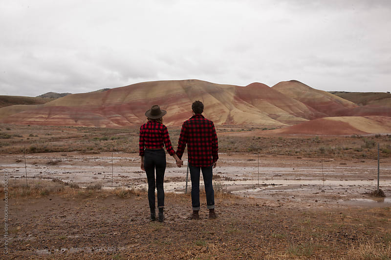 Couple At Painted Hills Oregon by Carey Haider for Stocksy United