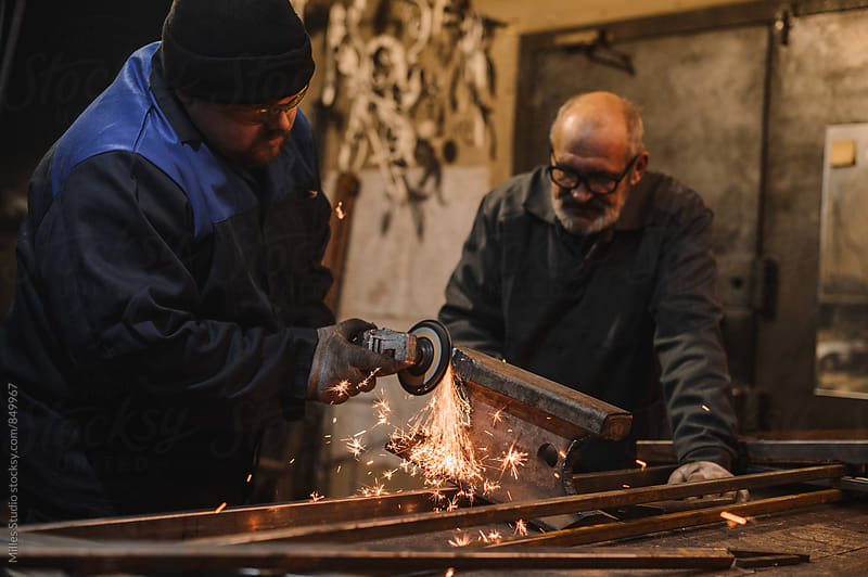Two Blacksmiths Portrait by Milles Studio for Stocksy United