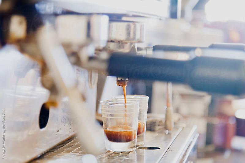 Barista making espresso by Carey Shaw for Stocksy United