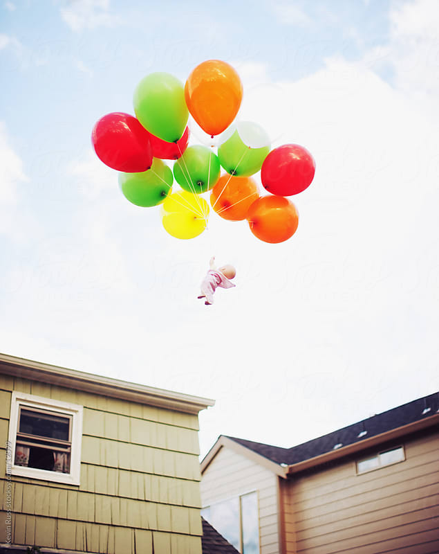 Neighborhood Balloon Baby by Kevin Russ for Stocksy United
