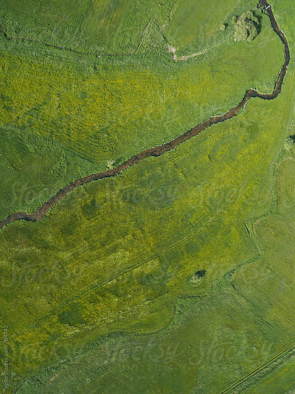 aerial view river  by rolfo for Stocksy United