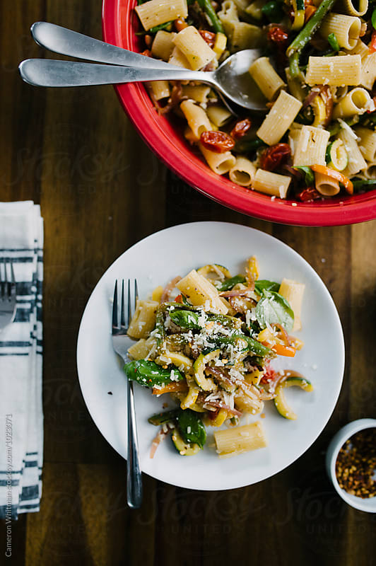 Summer Pasta Primavera  by Cameron Whitman for Stocksy United