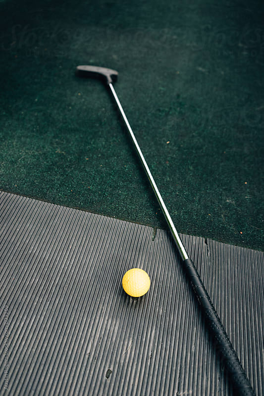 Putt Putt Club and Golf Ball by Austin Rogers for Stocksy United