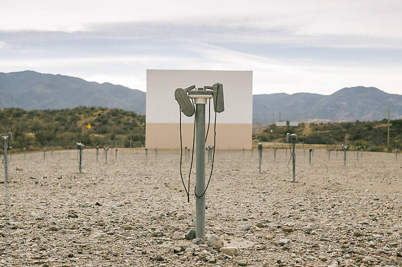 Empty Drive In Theater Rural Arizona by Raymond Forbes LLC for Stocksy United