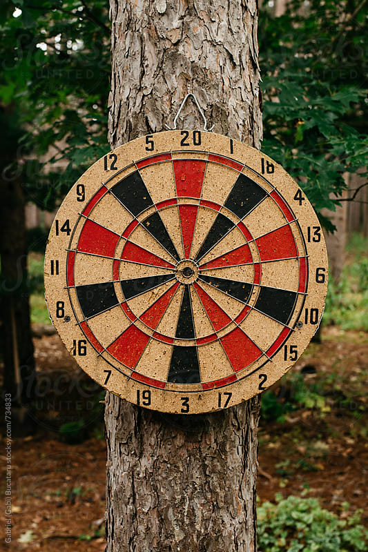 Dartboard on a tree by Gabriel (Gabi) Bucataru for Stocksy United