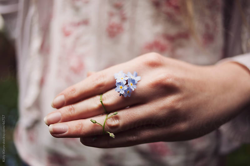 Forget-me-nots by Kitty Gallannaugh for Stocksy United