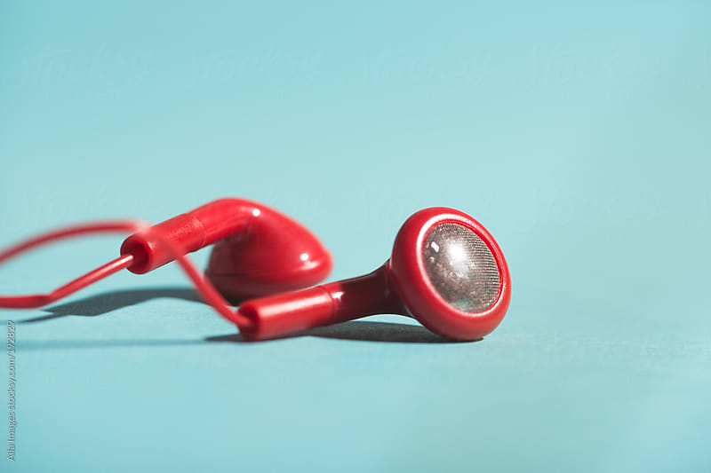 Red Headphones by Aila Images for Stocksy United