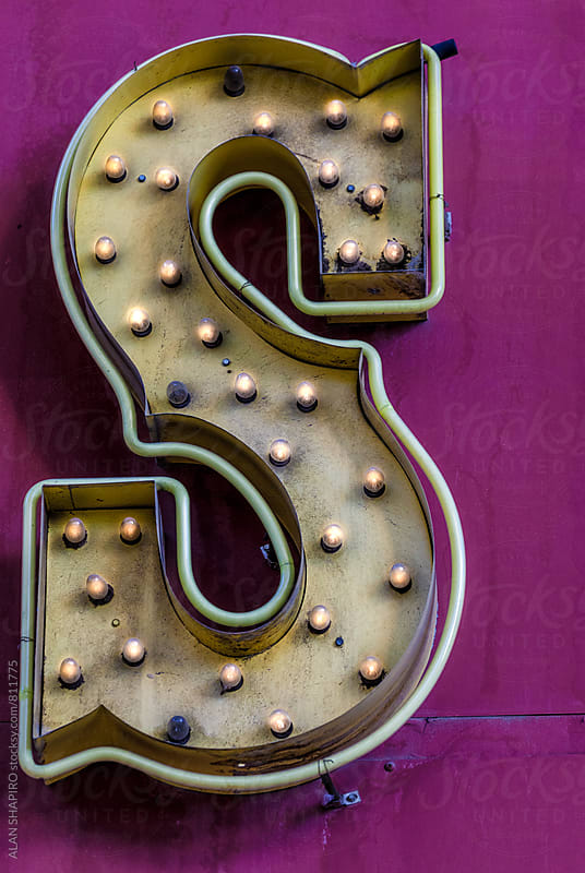 Illuminated letter S by alan shapiro for Stocksy United