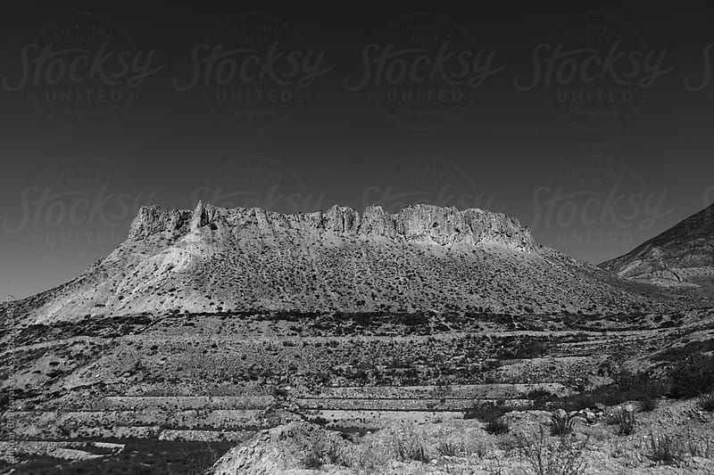Black and white landscape of Mustang. by Shikhar Bhattarai for Stocksy United