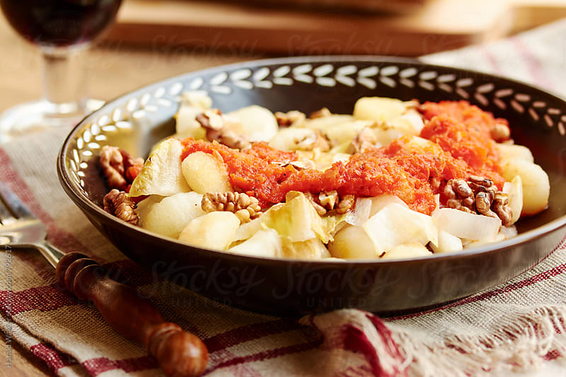 Gnocchi with Belgian Endives by Harald Walker for Stocksy United