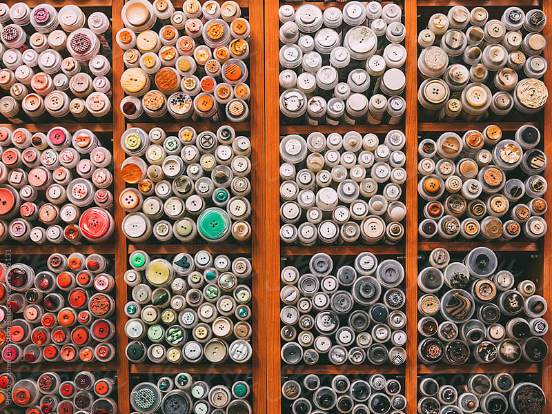 Display of buttons by Photographer Christian B for Stocksy United