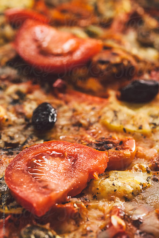 Home-Baked Pizza by Lumina for Stocksy United