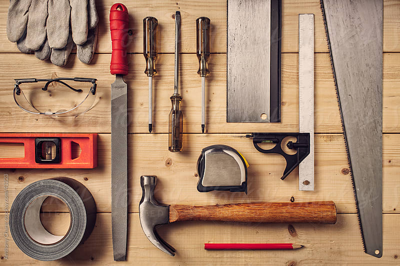 Carpentry Tools by Anthony Chang for Stocksy United