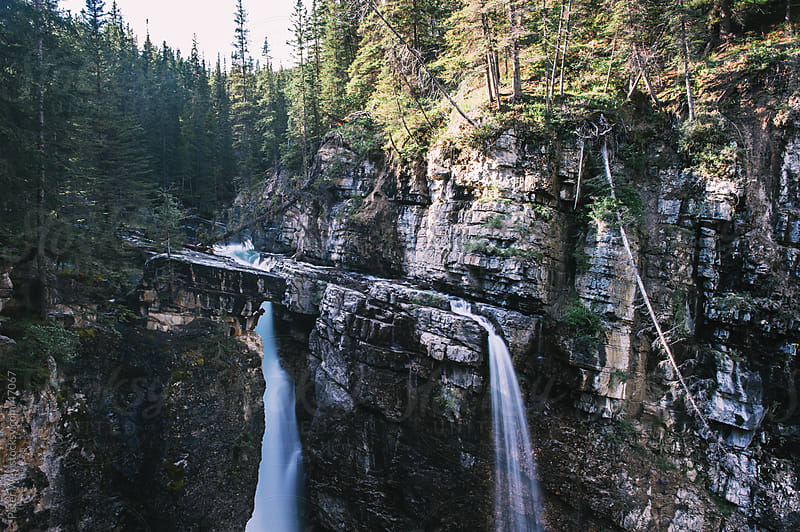Upper Falls at Johnston Canyon, Banff National Park, Alberta, Ca by Peter Wey for Stocksy United