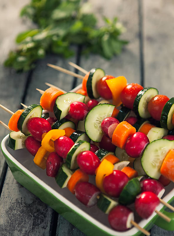 Vegetable Skewers by Lumina for Stocksy United
