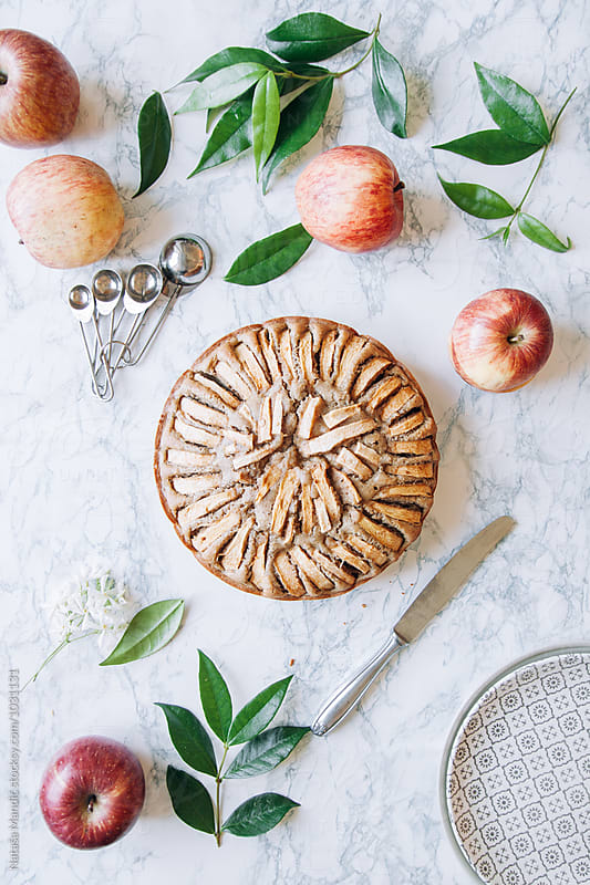 Apple cake by Nataša Mandić for Stocksy United