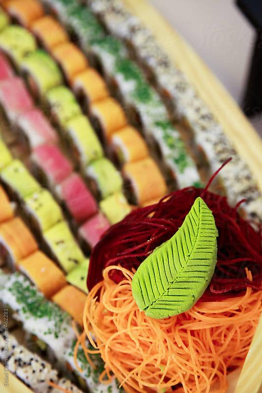 Wasabi Leaf & Sushi by Eldad Carin for Stocksy United