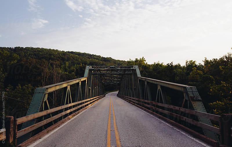 Bridge over Buffalo River in Jasper, AR by Christian Gideon for Stocksy United