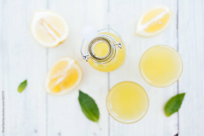 Home-made limoncello by Pixel Stories for Stocksy United