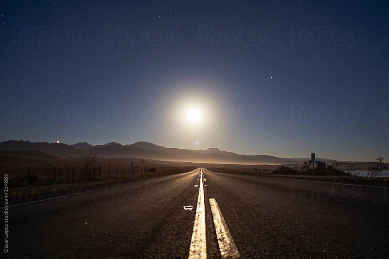 Full moon in Big Sur by Oscar Lopez for Stocksy United