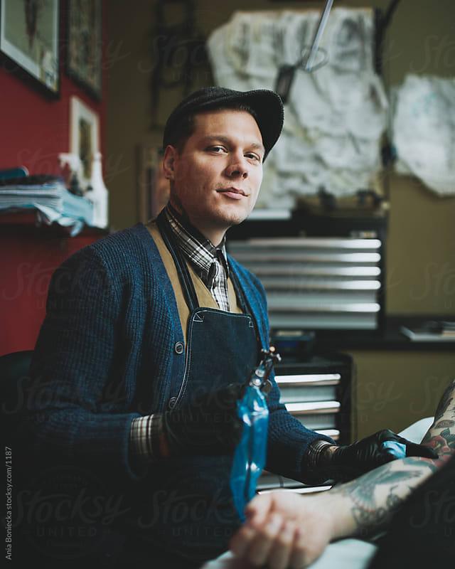 Tattoo artist by Ania Boniecka for Stocksy United