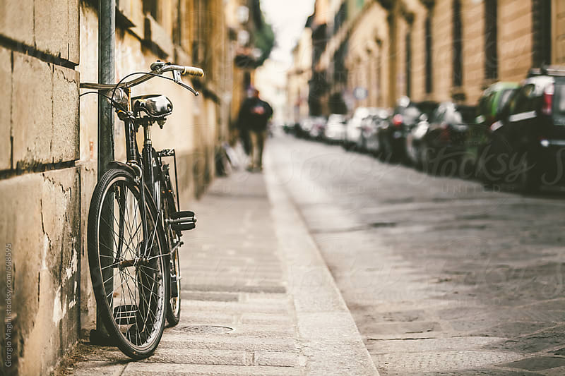 Old-Fashioned Bicycle in an Italian Street by Giorgio Magini for Stocksy United