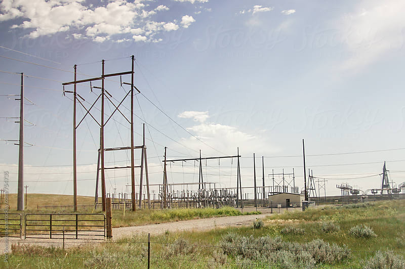 Electrical transformer station by Per Swantesson for Stocksy United