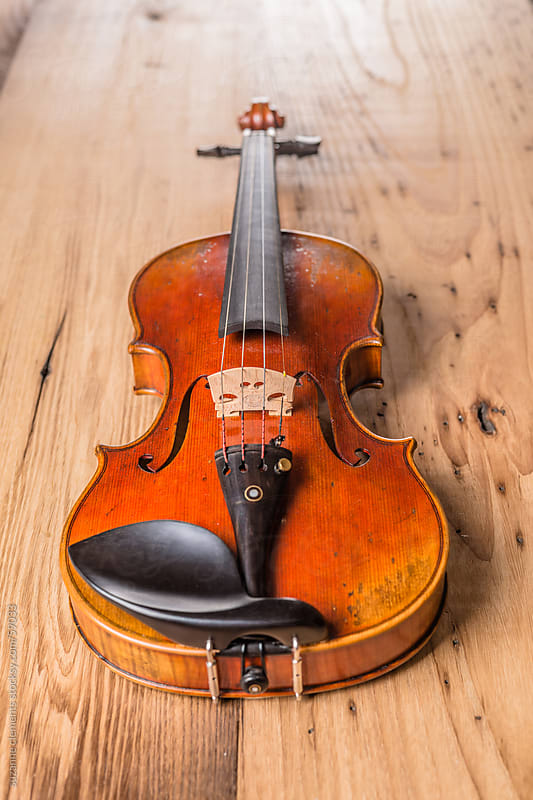 Vintage Violin Musical Instrument by suzanne clements for Stocksy United