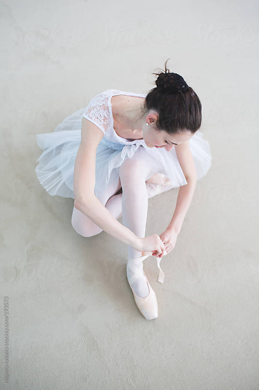 Ballet dancer in preparation for dance practice by michela ravasio for Stocksy United