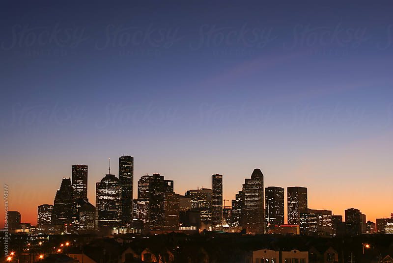 Houston skyline at dawn by yuko hirao for Stocksy United