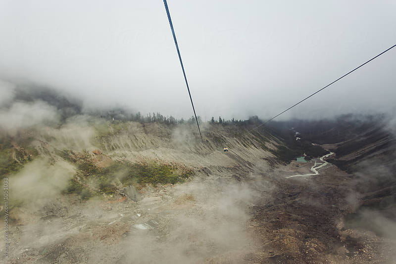 funicular in the cloud by zheng long for Stocksy United