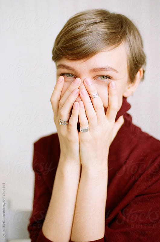 Portrait of happy woman by Lyuba Burakova for Stocksy United