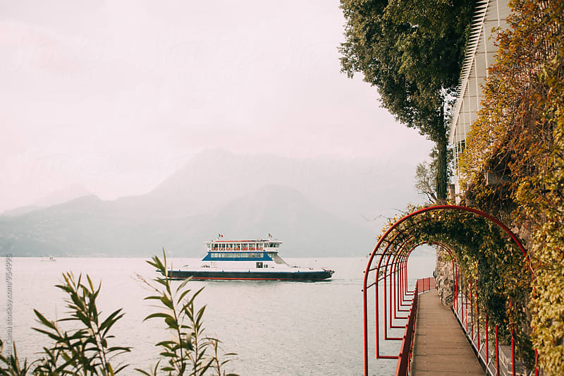 A ferry on the lake by Giada Canu for Stocksy United