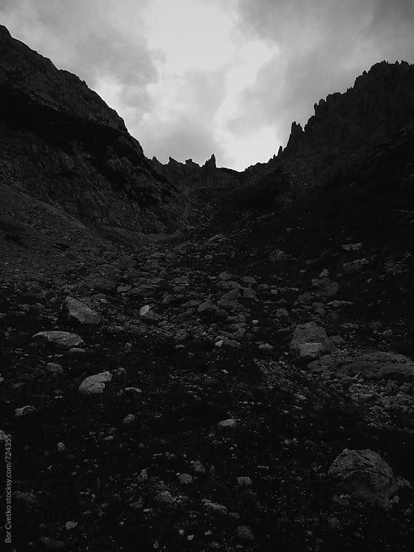 Rocks in mountain valley by Bor Cvetko for Stocksy United