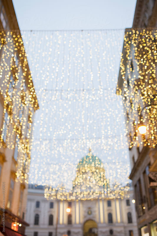 Decorated street in Vienna by Jovana Rikalo for Stocksy United