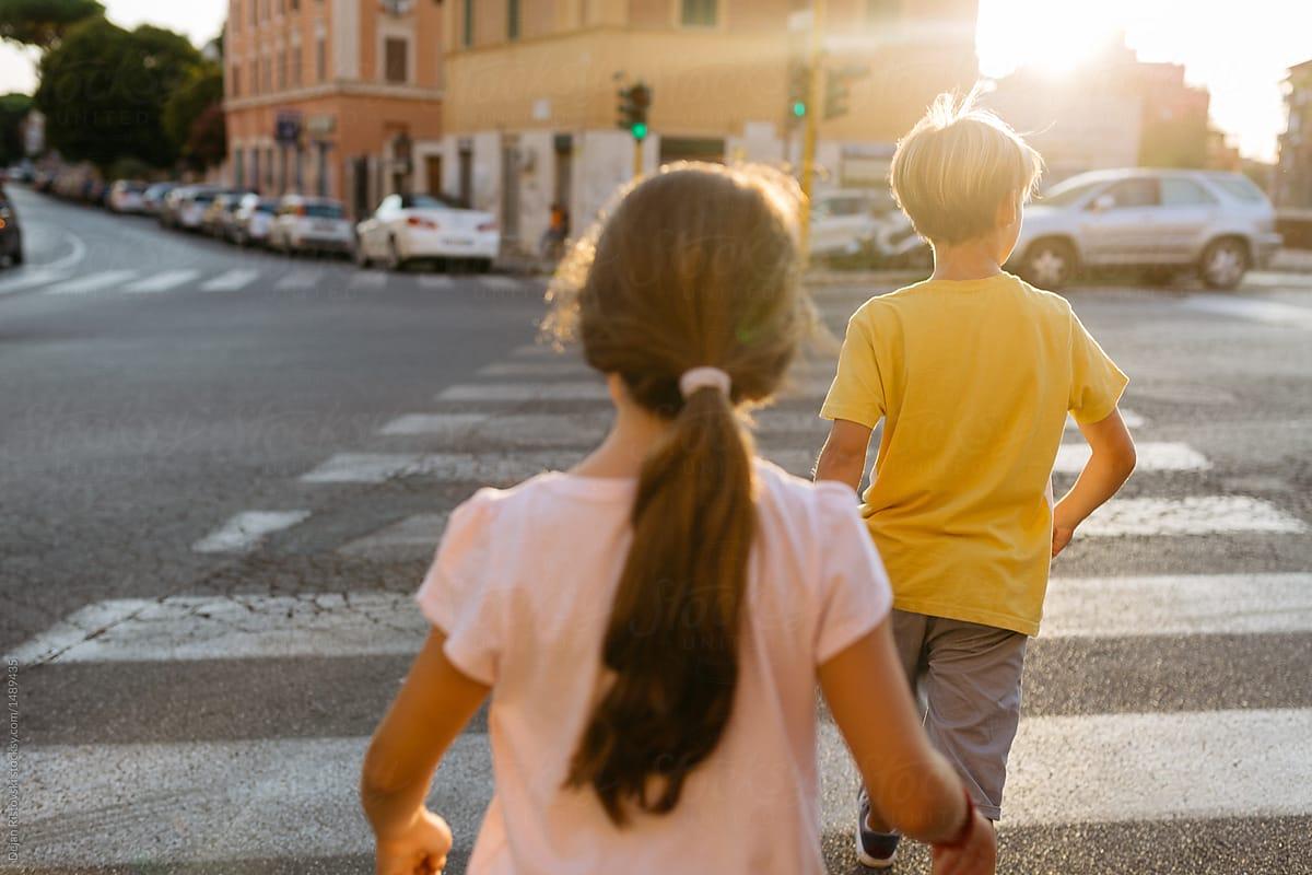 Children Crossing Street . by Dejan Ristovski