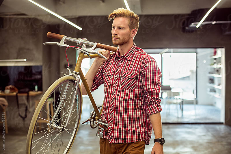 Businessman Who Comes to Work by Bicycle by Lumina for Stocksy United