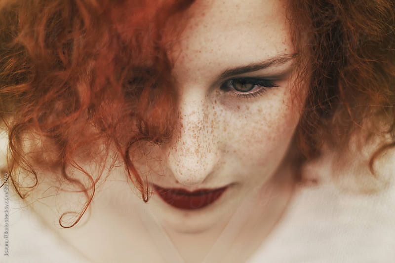 Portrait of a beautiful ginger girl by Jovana Rikalo for Stocksy United