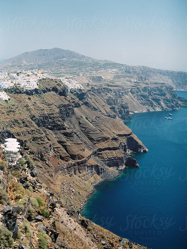 Landscape in Santorini, Greece by Julia Kaptelova for Stocksy United