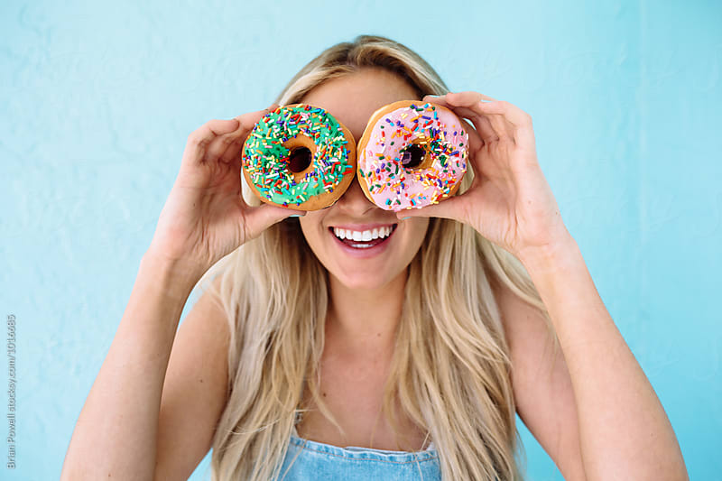 donuts for eyes by Brian Powell for Stocksy United