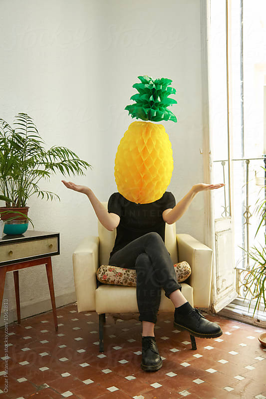 Fruit Head by Oscar Parasiego for Stocksy United