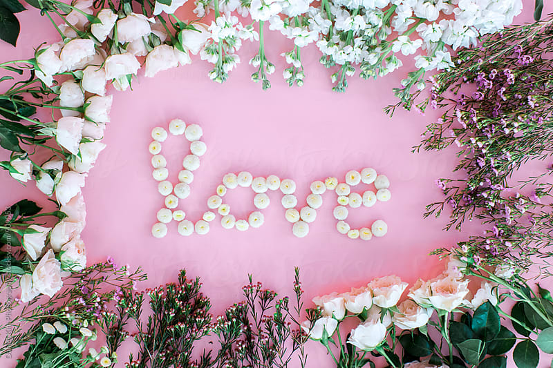Words with flowers by Daniel Kim Photography for Stocksy United