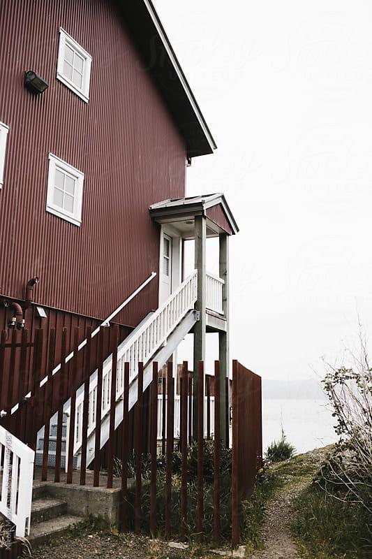 boat house at oregon coast by Nicole Mason for Stocksy United