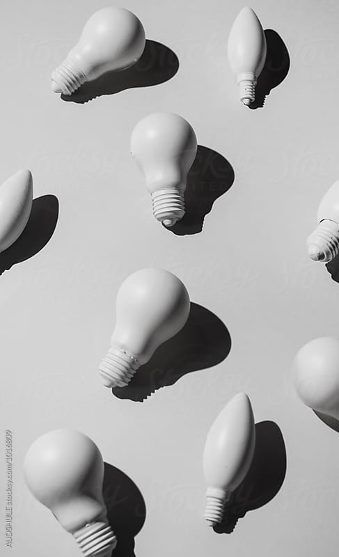 Various bulb lights  on white background  by Marko Milanovic for Stocksy United