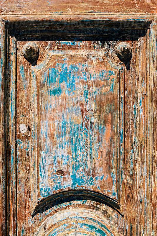 Kaleidoscopic Wooden Door in Malta by Nemanja Glumac for Stocksy United