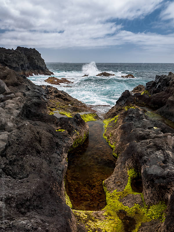 Volcanic Coast of Lanzarote by Andreas Wonisch for Stocksy United