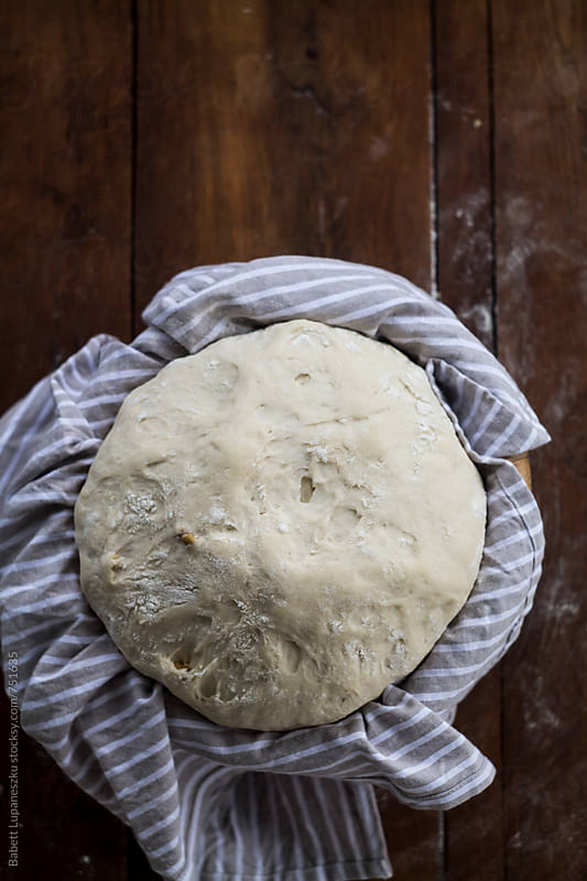 Handmade walnut rye bread by Viktorné Lupaneszku for Stocksy United