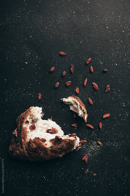 Cranberry Bread on Black by Lumina for Stocksy United
