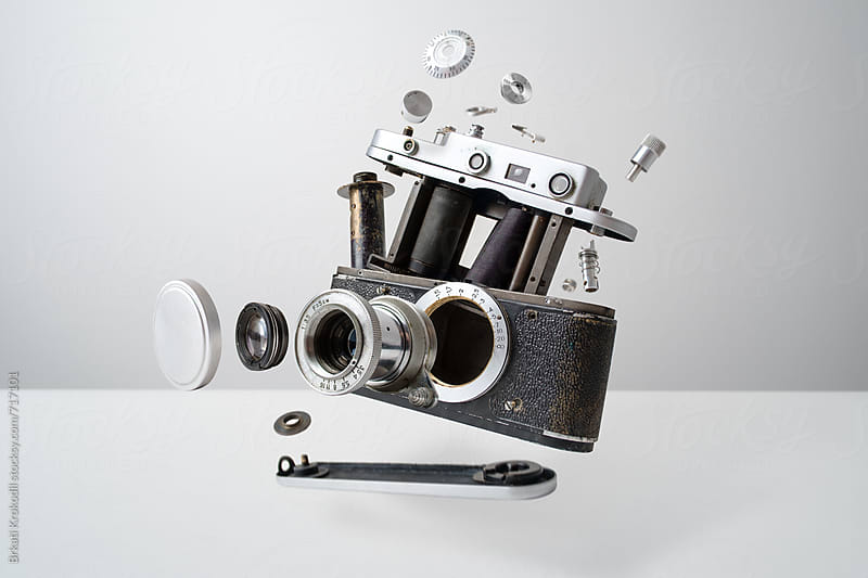 Disassembled Analog Camera by Branislav Jovanović for Stocksy United