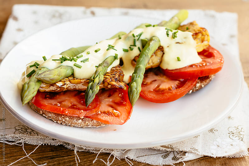 Tempeh Benedict by Harald Walker for Stocksy United